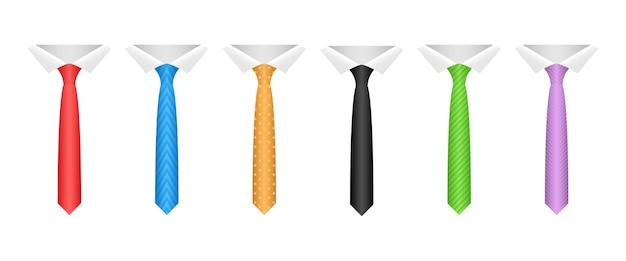 Cravatta al collo isolato su sfondo bianco