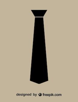 Cravatta minimalista icona nera