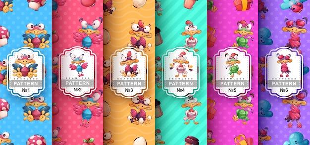 Crazy bird - imposta personaggi dei cartoni animati