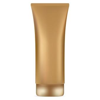 Cream tube golden con crema solare