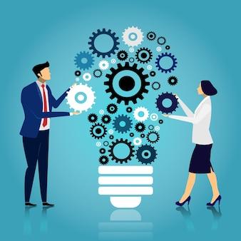 Creare idee per un lavoro di successo.
