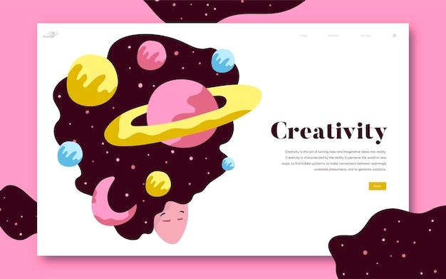 Creatività e grafica del sito spaziale