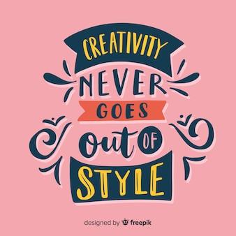 Creatività lettering sfondo con i colori