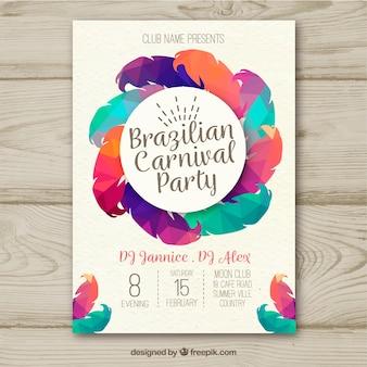 Creativo colorato design di poster di carnevale brasiliano