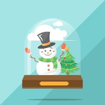 Creativo concetto di palla piatto palla di neve