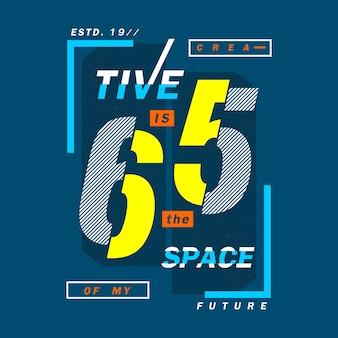 Creativo è lo spazio futuro design delle parole