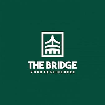 Creativo il design del logo del ponte