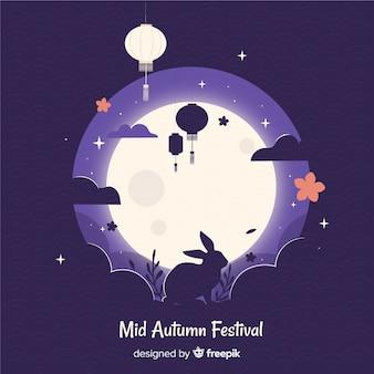 Creativo metà autunno festival sfondo