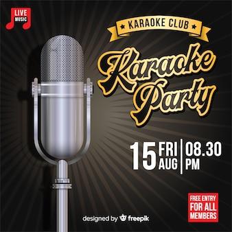 Creativo modello di banner festa karaoke