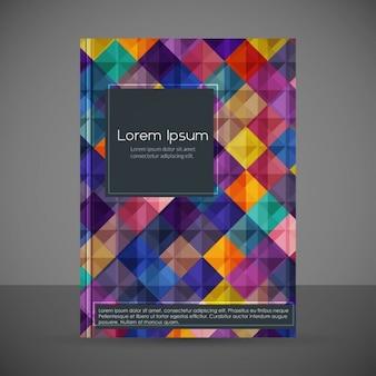 Creativo modello geometrico flyer brochure