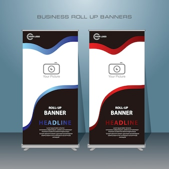 Creativo moderno rimboccarsi design banner