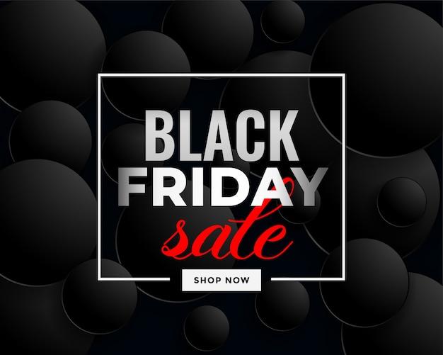 Creativo nero venerdì vendita banner design