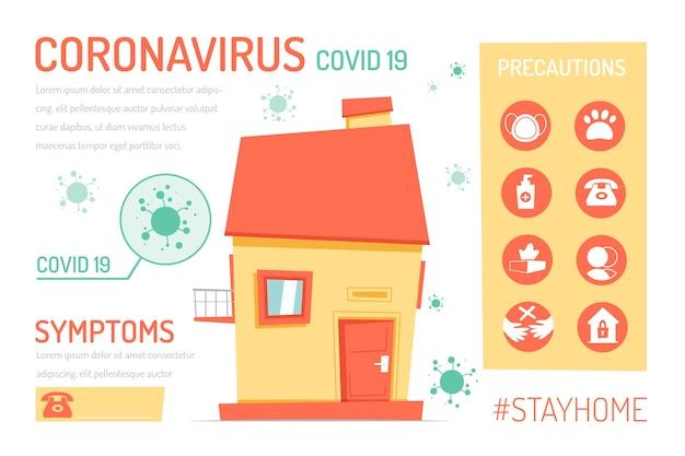 Creativo rimanere a casa infografica con alcune cose da fare