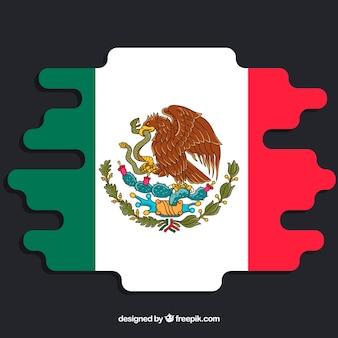 Creativo sfondo bandiera messicana