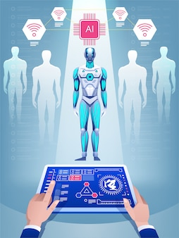 Creazione di un robot con intelligenza artificiale.