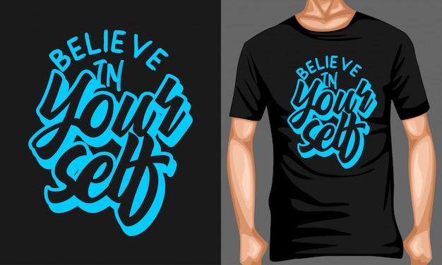 Credi in te stesso lettering tipografia