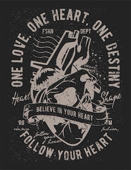 Credi nella tua illustrazione del cuore