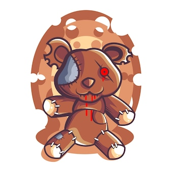 Creepy bear dool