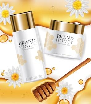Crema con etichetta di estratto di miele