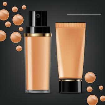 Crema cosmetica realistica per fondotinta