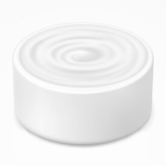 Crema igienica, gel in barattolo bianco