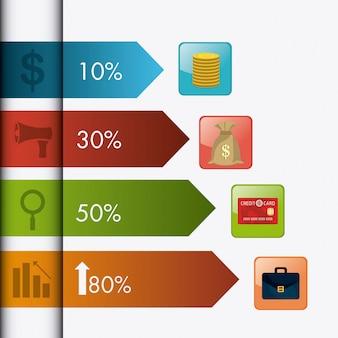 Crescita del business e statistiche sul risparmio di denaro