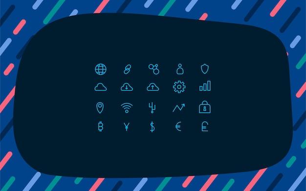 Criptovaluta imposta vettoriale simbolo di denaro elettronico
