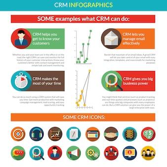 Crm infografica set