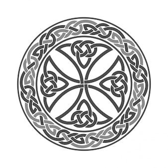 Croce celtica ornamento etnico geometrico