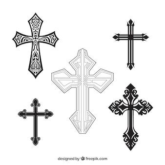 Croce ornamentale disegnata a mano