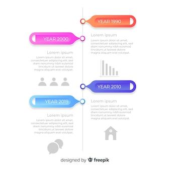 Cronologia infografica professionale