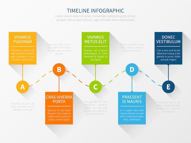 Cronologia moderna. concetto di infografica grafico di flusso di lavoro per presentazione di marketing