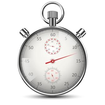 Cronometro classico realistico isolato su bianco
