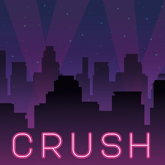 Crush pubblicità al neon