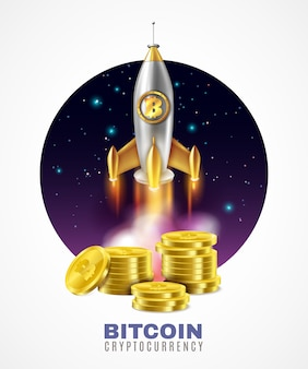 Crypto currency start up illustration