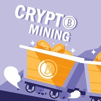 Crypto mining icone bitcoin