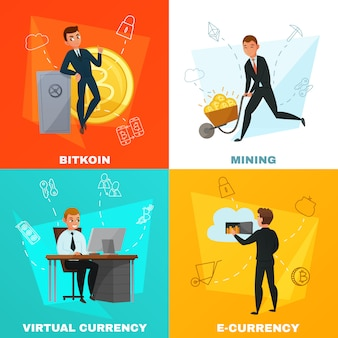 Cryptocurrency bitcoin concept