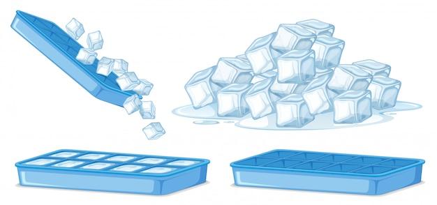 Cubetto di ghiaccio su sfondo bianco