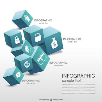 Cubi tridimensionali infografica
