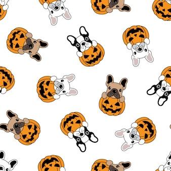 Cuccioli in cartone animato jack-o-lantern