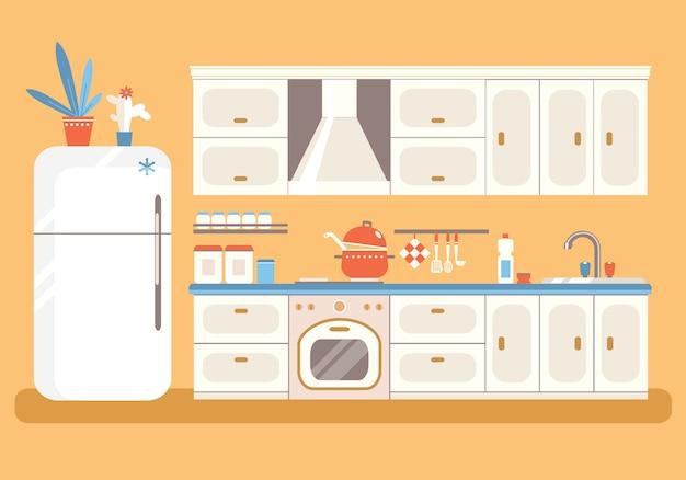 Cucina con mobili.