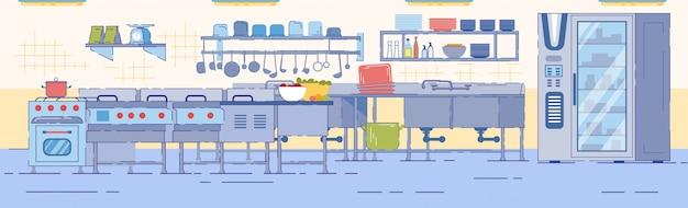 Cucina con piano cottura lavello frigorifero industriale