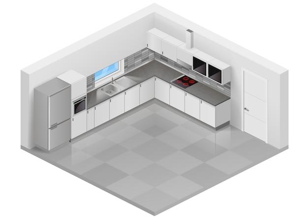 Cucina moderna isometrica