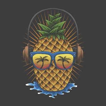 Cuffia all'ananas
