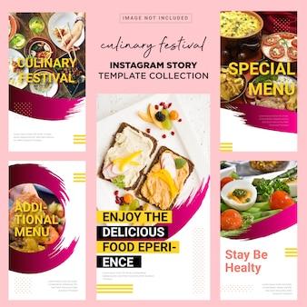 Culinary festival insta story template