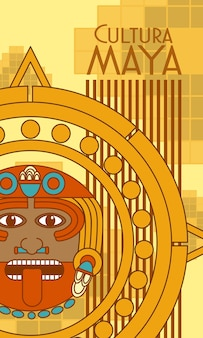 Cultura maya cartolina