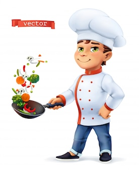 Cuoca personaggio comico, illustrazione