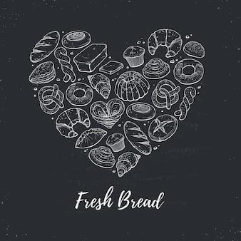 Cuore di pane fresco