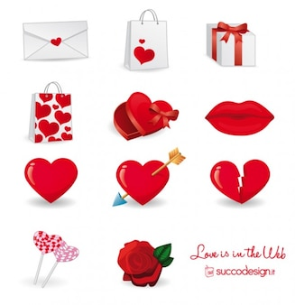Cuore icone vector pack