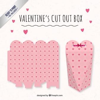 Cuore rosa vakentines scatola giorno